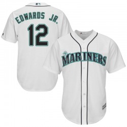 Carl Edwards Jr. Seattle Mariners Youth Replica Majestic Cool Base Home Jersey - White