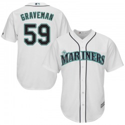 Kendall Graveman Seattle Mariners Youth Replica Majestic Cool Base Home Jersey - White