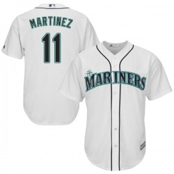Edgar Martinez Seattle Mariners Youth Replica Cool Base Home Majestic Jersey - White