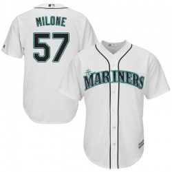 Tommy Milone Seattle Mariners Youth Replica Majestic Cool Base Home Jersey - White