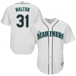 Donnie Walton Seattle Mariners Youth Replica Majestic Cool Base Home Jersey - White