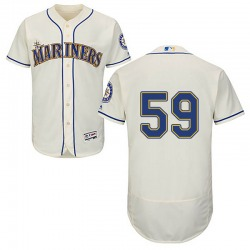 Kendall Graveman Seattle Mariners Youth Authentic Majestic Flex Base Alternate Collection Jersey - Cream