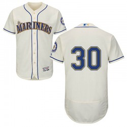 Kyle Lewis Seattle Mariners Youth Authentic Majestic Flex Base Alternate Collection Jersey - Cream