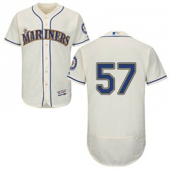 Tommy Milone Seattle Mariners Youth Authentic Majestic Flex Base Alternate Collection Jersey - Cream
