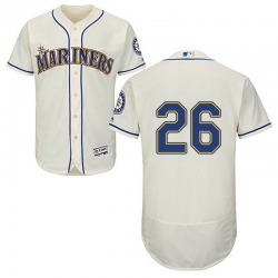 Sam Tuivailala Seattle Mariners Youth Authentic Majestic Flex Base Alternate Collection Jersey - Cream