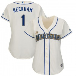 Tim Beckham Seattle Mariners Women's Replica Majestic Cool Base Alternate Jersey - Cream