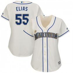 Roenis Elias Seattle Mariners Women's Replica Majestic Cool Base Alternate Jersey - Cream