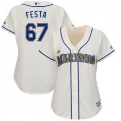 Matt Festa Seattle Mariners Women's Replica Majestic Cool Base Alternate Jersey - Cream