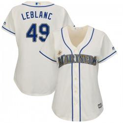 Wade LeBlanc Seattle Mariners Women's Replica Cool Base Alternate Majestic Jersey - Cream