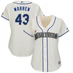 Arthur Warren Seattle Mariners Women's Replica Majestic Cool Base Alternate Jersey - Cream