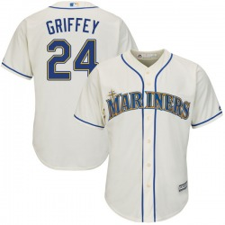 Ken Griffey Seattle Mariners Men's Authentic Majestic Cool Base Alternate Jersey - Cream