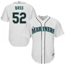 Anthony Bass Seattle Mariners Men's Replica Majestic Cool Base Home Jersey - White