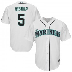 Braden Bishop Seattle Mariners Men's Replica Majestic Cool Base Home Jersey - White