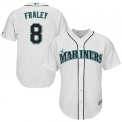 Jake Fraley Seattle Mariners Men's Replica Majestic Cool Base Home Jersey - White
