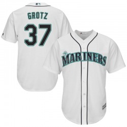 Zac Grotz Seattle Mariners Men's Replica Majestic Cool Base Home Jersey - White