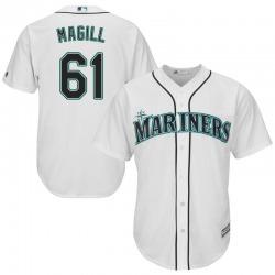 Matt Magill Seattle Mariners Men's Replica Majestic Cool Base Home Jersey - White