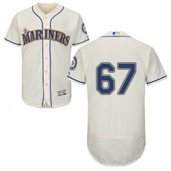 Nestor Cortes Jr. Seattle Mariners Men's Authentic Majestic Flex Base Alternate Collection Jersey - Cream