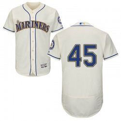 Taylor Guilbeau Seattle Mariners Men's Authentic Majestic Flex Base Alternate Collection Jersey - Cream