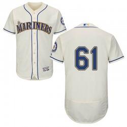 Matt Magill Seattle Mariners Men's Authentic Majestic Flex Base Alternate Collection Jersey - Cream