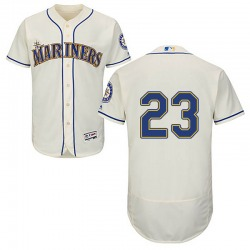 Austin Nola Seattle Mariners Men's Authentic Majestic Flex Base Alternate Collection Jersey - Cream