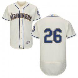 Sam Tuivailala Seattle Mariners Men's Authentic Majestic Flex Base Alternate Collection Jersey - Cream