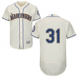 Donnie Walton Seattle Mariners Men's Authentic Majestic Flex Base Alternate Collection Jersey - Cream