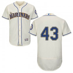 Arthur Warren Seattle Mariners Men's Authentic Majestic Flex Base Alternate Collection Jersey - Cream
