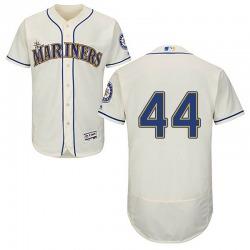 Matt Wisler Seattle Mariners Men's Authentic Majestic Flex Base Alternate Collection Jersey - Cream