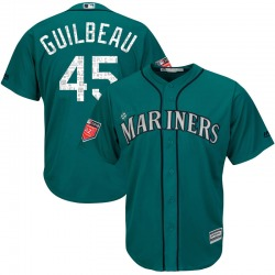 Taylor Guilbeau Seattle Mariners Youth Replica Majestic Cool Base 2018 Spring Training Jersey - Aqua