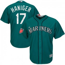 Mitch Haniger Seattle Mariners Youth Replica Cool Base 2018 Spring Training Majestic Jersey - Aqua