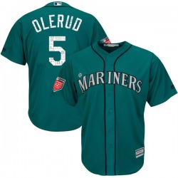 John Olerud Seattle Mariners Youth Replica Majestic Cool Base 2018 Spring Training Jersey - Aqua