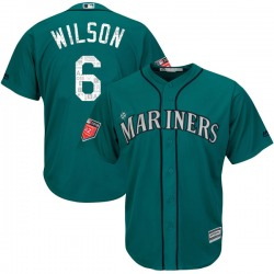 Dan Wilson Seattle Mariners Youth Replica Majestic Cool Base 2018 Spring Training Jersey - Aqua