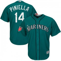 Lou Piniella Seattle Mariners Youth Authentic Majestic Cool Base 2018 Spring Training Jersey - Aqua