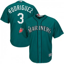 Alex Rodriguez Seattle Mariners Youth Authentic Majestic Cool Base 2018 Spring Training Jersey - Aqua