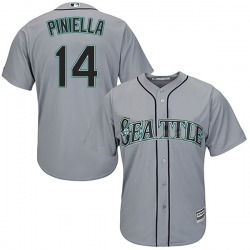 Lou Piniella Seattle Mariners Men's Authentic Majestic Cool Base Road Jersey - Gray