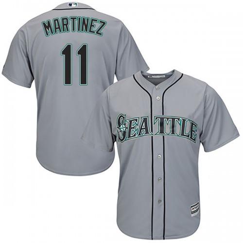 Edgar Martinez Seattle Mariners Men's Replica Cool Base Road Majestic Jersey - Gray