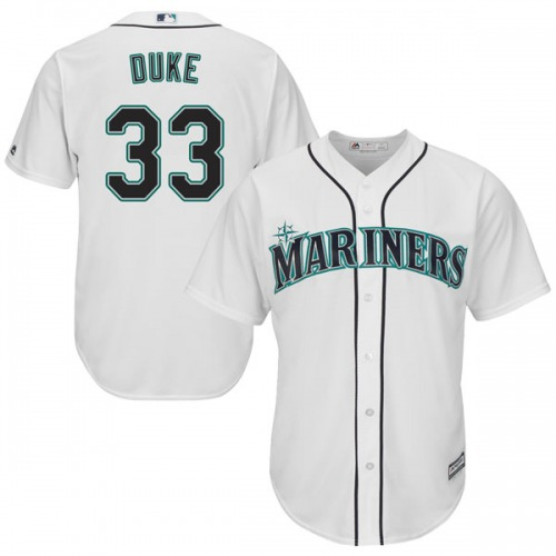 c2389dcaacc Zach Duke Seattle Mariners Youth Replica Majestic Cool Base Home Jersey -  White