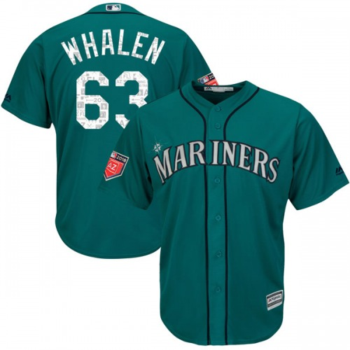 Rob Whalen Seattle Mariners Youth Authentic Cool Base 2018 Spring Training Majestic Jersey - Aqua